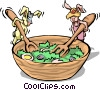 Vector Clipart image  of a Rabbit with salads