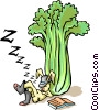 Vector Clipart graphic  of a Rabbit with celery