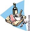 Vector Clip Art image  of a Mortar & pestle