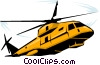 Vector Clipart image  of a Military Helicopter