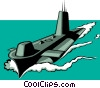 Vector Clip Art graphic  of a Submarine