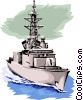 War ship Vector Clipart graphic