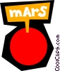 Vector Clipart illustration  of a Planet Mars