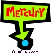 Planet Mercury Vector Clip Art image