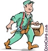Vector Clipart picture  of a Handyman