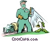 Handymen Vector Clip Art graphic