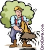 Vector Clipart picture  of a Handymen