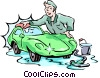 Vector Clipart image  of a Car wash