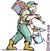 Vector Clipart graphic  of a Handyman