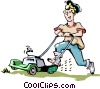Vector Clipart image  of a Handymen