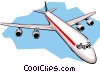 Commercial jet Vector Clipart illustration