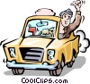 Vector Clipart graphic  of a Taxi cab driver