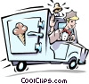 Ice cream truck Vector Clipart illustration