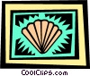 Vector Clipart graphic  of a Seashells