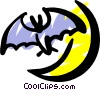 Vector Clipart picture  of a Bat