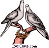 Vector Clip Art picture  of a Doves