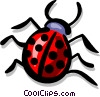 Vector Clip Art graphic  of a Ladybugs