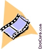 Vector Clip Art graphic  of a Filmstrip