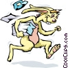Vector Clip Art image  of a Rabbit