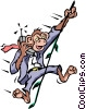 Vector Clip Art graphic  of a Monkey business