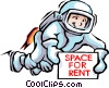 Spaceman Vector Clipart graphic