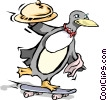 Vector Clipart illustration  of a Penguins