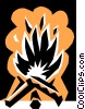 Fire Vector Clipart graphic
