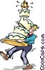 Wedding cake Vector Clipart picture