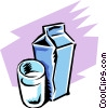 Vector Clipart picture  of a Milk
