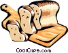 Vector Clip Art image  of a Loaf of bread