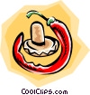 Vector Clipart illustration  of a Hot peppers
