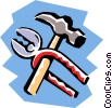 Vector Clip Art graphic  of a Tools