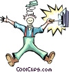 Vector Clip Art graphic  of a Handyman