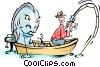 Fishing Vector Clipart illustration