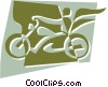 Vector Clip Art graphic  of a Motorcycles