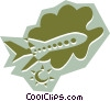 Vector Clipart image  of an Airplane