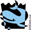 Vector Clipart image  of a Whale