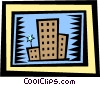 buildings Vector Clip Art graphic