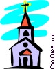 Vector Clipart image  of a Church