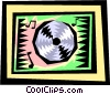 CD-ROM disk Vector Clipart picture