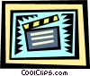 Vector Clipart graphic  of a Clapper boards