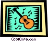 Vector Clipart picture  of a Guitars