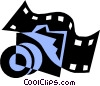 Vector Clip Art image  of a Filmstrip