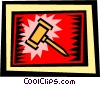 Vector Clip Art graphic  of a Gavels