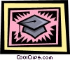 Vector Clipart graphic  of a graduate's cap