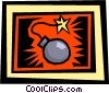 Vector Clip Art picture  of a time bomb