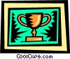 Vector Clip Art image  of a Trophies