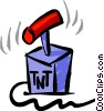 Vector Clipart image  of a TNT