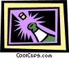 Vector Clipart picture  of a Champagne and cork