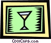Vector Clipart graphic  of a champagne glass